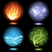 Four elements of nature — Vector de stock