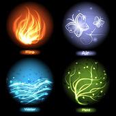 Vier elementen van de natuur — Stockvector
