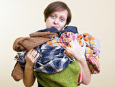 A lot of laundry — Stock Photo