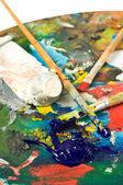 Artist's palette — Stockfoto