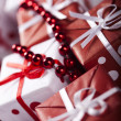Christmas decoration, gifts — Stock Photo