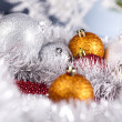 Royalty-Free Stock Photo: Christmas background with baubles