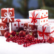 Christmas decoration, gifts — Stock Photo #7121131