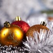 Traditional Christmas Baubles - Foto Stock
