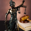 God of law, Justice statue, — Stock Photo