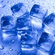 Blue and shiny ice cubes — Lizenzfreies Foto