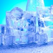 Ice background — Stock Photo