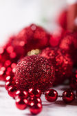 Christmas background with baubles — Stockfoto