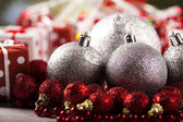 Christmas Tree Baubles — Stockfoto