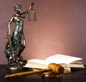 Antique statue of justice, law — Stock Photo