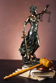 Scales of Justice and Law — Stock Photo