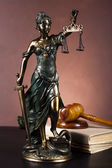 Hammer and god of law — Stock Photo