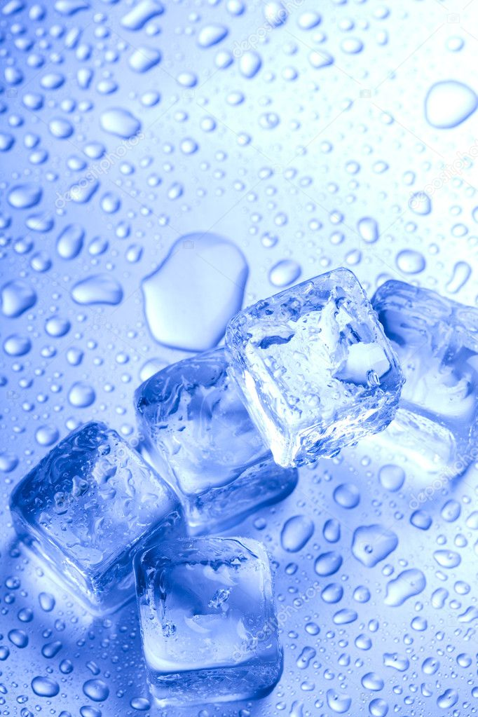 Background with ice cubes.  Stock Photo #7125571