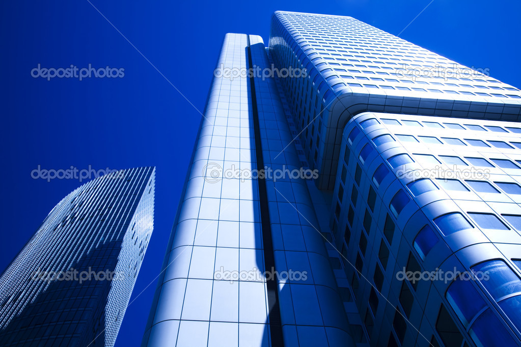 Office building on a background city. — Stock Photo #7140901