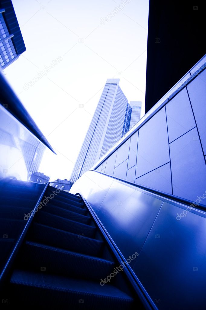 Office building on a background city. — Stock Photo #7149448