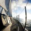 Stock Photo: Sailing boat in sea