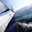 Stock Photo: Sailing in open sea