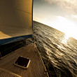 Sailboat in the open sea — Stock Photo