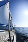 Sailing in the open sea — Foto Stock