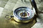 Detail closeup compass — Stock Photo