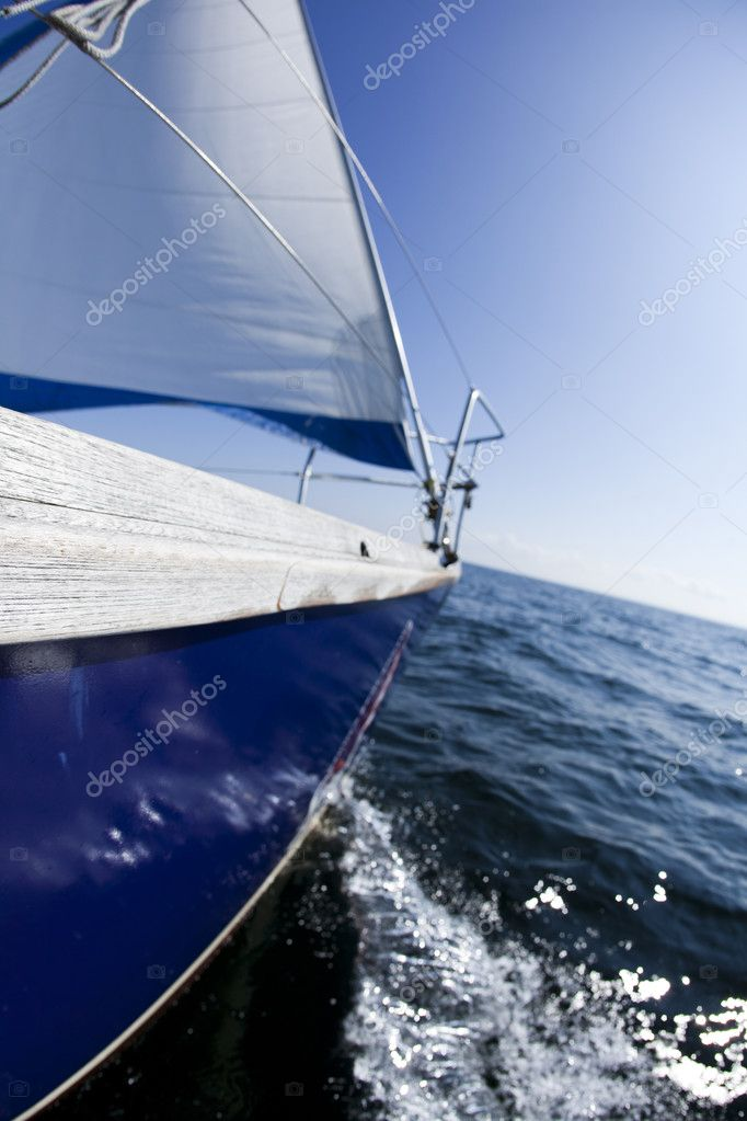 Sailing on the Baltic Sea  Stock Photo #7161037