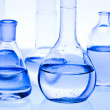 Chemical laboratory glassware equipment  — Stock Photo