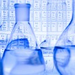 Stock Photo: Blue chemistry vials
