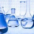 Stock Photo: Chemistry equipment, laboratory glassware