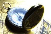 Detail closeup compass — Stock Photo
