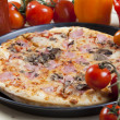 Stock Photo: Pizzfrom top - Deluxe