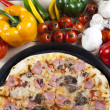 Pizza from the top - Deluxe - Stock Photo