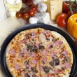 Pizza from the top - Deluxe — Stock Photo