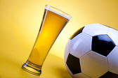 Beer collection, footbal — Stock Photo