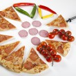 Fresh Pizza and italian kitchen — Stockfoto