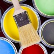 Colorful paint - Stock Photo