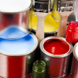 Paint and cans - Stock Photo