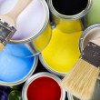 Paint and cans - Stockfoto