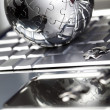 Chrome globe — Stock Photo
