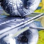 Chrome globe — Stock Photo