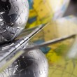 Stock Photo: Chrome globe