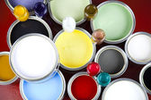 Paint and cans — Stock Photo