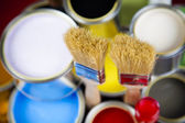 Farby i puszki — Zdjęcie stockowe