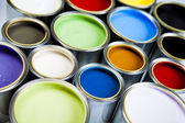 Kolorowe farby — Zdjęcie stockowe