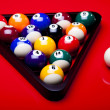 Billiard table and ball — Stockfoto
