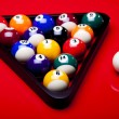 Billiard table and ball — Foto de Stock