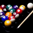 Billiard balls isolated on black — Stock Photo