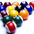 Billiard balls isolate on white - Stock fotografie