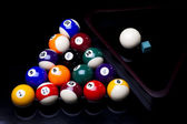 Close-up billiard balls — Stock Photo
