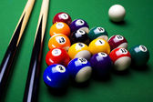 Billiard background — Stock Photo