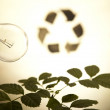 Recycling plant, ecology background - Stock Photo
